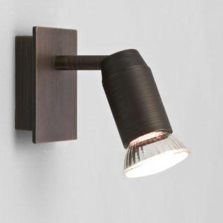 Nieduży kinkiet Magna - minimalistyczny design, brązowy