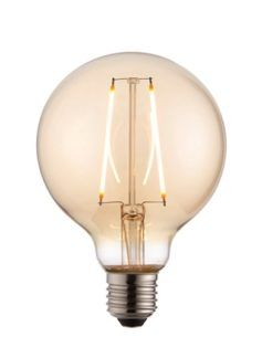 Żarówka w kształcie bańki z dekoracynym żarnikiem - Endon - barwione szkło