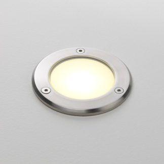 Zewnętrzne oczko świetlne Terra 90 - szczotkowana stal, srebrne, IP67