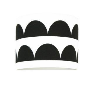 Biało-czarny kinkiet Young - abażur w półkola