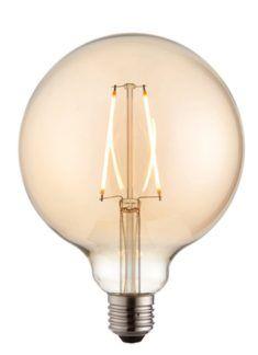 Piękna okrągła żarówka dekoracyjna edisona - Endon - bańka z żarnikiem
