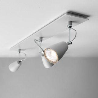 Lampa sufitowa Polar Triple - 3 regulowane reflektory, białe, matowe wykończenie