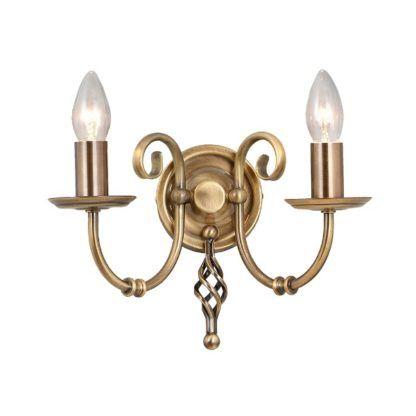 złoty kinkiet metalowy klasyczny