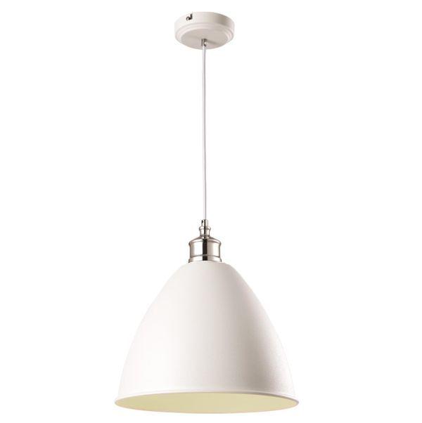 Metalowa lampa wisząca Wasto - styl skandynawski, otwarty klosz