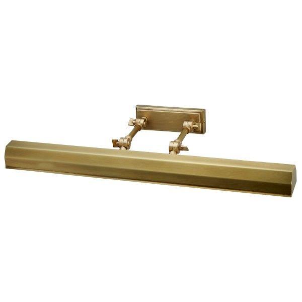 Klasyczny kinkiet Chawton - oświetlenie obrazów, metalowy, złoty