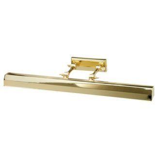 Złoty kinkiet Chawton - oświetlenie dzieł sztuki, klasyczny