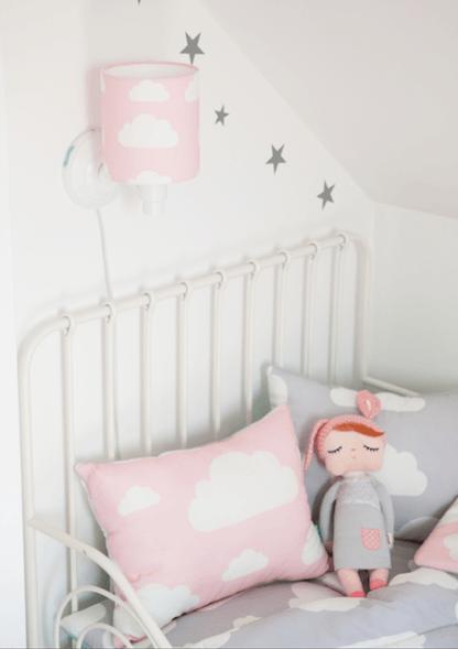 pokój dziewczynki lampy chmurki