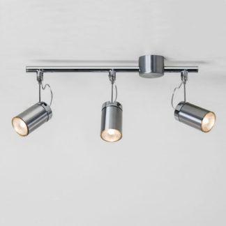 Potrójna lampa sufitowa Montana - szczotkowane aluminium, regulowane reflektory