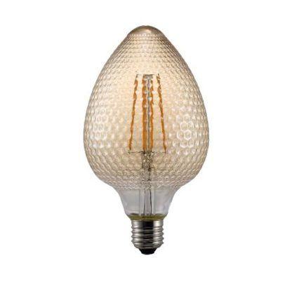 chropowate szkło - żarówka dekoracyjna retro jajo