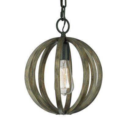brązowa lampa wisząca rustykalna