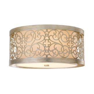 Dekoracyjny plafon Motif - srebrny, ażurowy wzór, tkanina