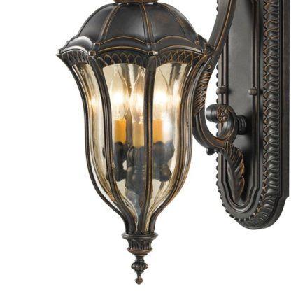 klasyczny brązowy kinkiet latarnia klasyczny