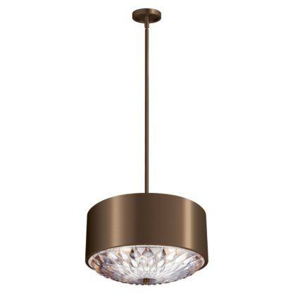 Dekoracyjna lampa wisząca Botanic - brązowy klosz, szklane detale