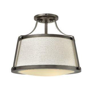 Lampa sufitowa Charlotte - beżowy klosz, mleczny dyfuzor, vintage