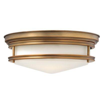 Klasyczna lampa sufitowa Hadley - mleczny klosz, brązowa oprawa