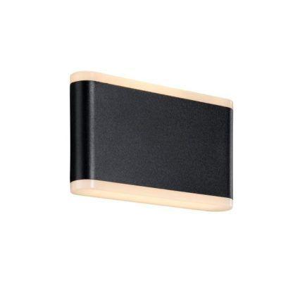 Czarny kinkiet Akorn 17 - nowoczesny, metalowy, IP54