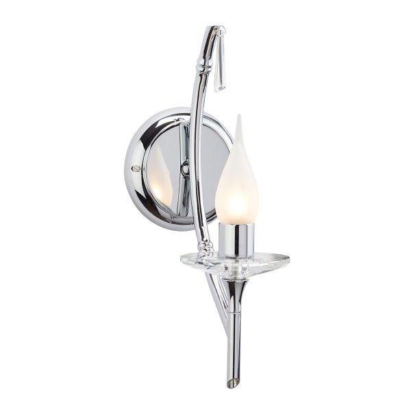 srebrny elegancki kinkiet świecznik