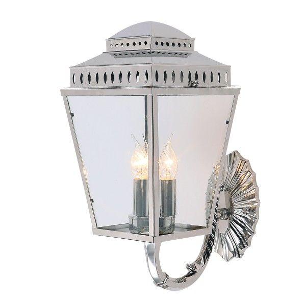 lampa zewnętrzna - kinkiet ścienny srebrny