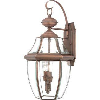 Szklany kinkiet Newbury - klasyczny design, szklany klosz