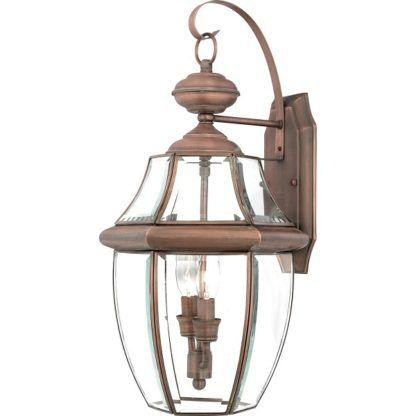 szklany kinkiet zewnętrzny brązowy