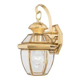 Złoty klasyczny kinkiet Newbury - szklany klosz, IP44