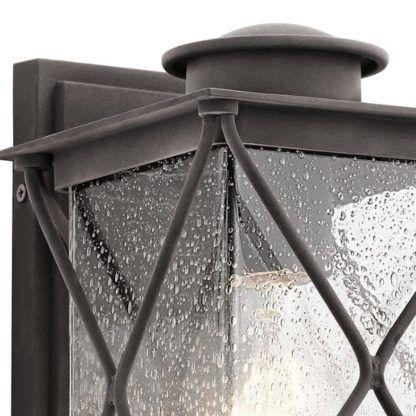 brązowy kinkiet latarnia zewnętrzna
