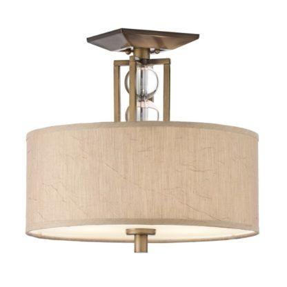 Klasyczna lampa sufitowa Celesial - jasny abażur, dekoracyjne, szklane kule