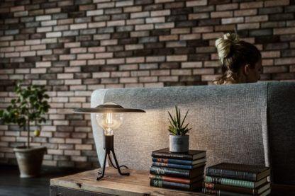lampa stołowa z żarówką edisona