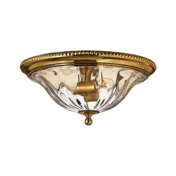 klasyczny plafon ze szklanym kloszem złoty