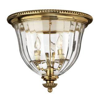 Dekoracyjna lampa sufitowa Cambridge - szklany klosz, świecznik w środku