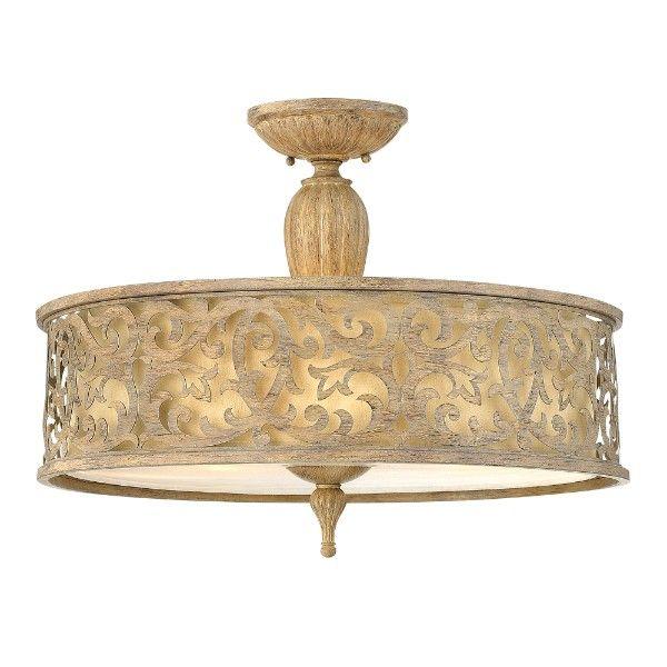 klasycza lampa sufitowa z ażurowym wzorem