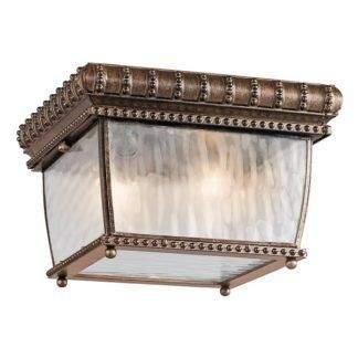 Klasyczna lampa sufitowa Venetian Rain - szklany klosz, brązowa
