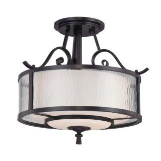 Lampa sufitowa Adonis - dwa szklane klosze, metalowa oprawa, klasyczna