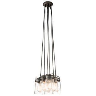 Lampa wisząca Brinley - szklane klosze, styl industrialny