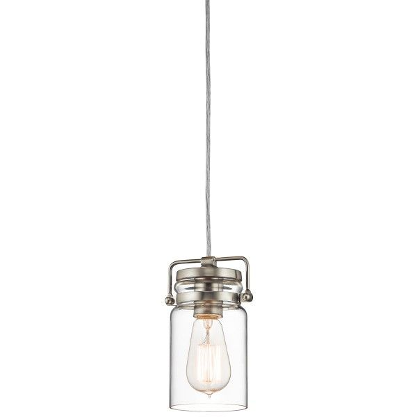 Industrialna lampa wisząca Brinley – szklany klosz, srebrne detale