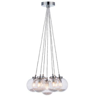 Lampa wisząca Harbour - szklane srebrne kule