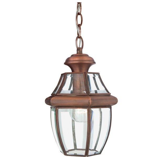 brązowa, klasyczna latarnia wisząca