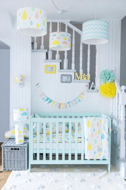 pastelowy pokój dziecięcy oświetlenie