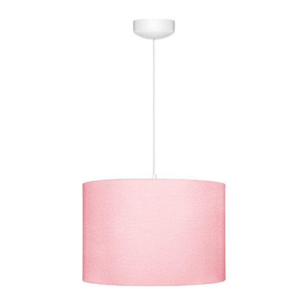 lampa wisząca z różowym abażurem dla dziecka