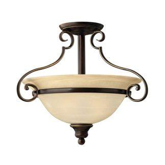 Klasyczna lampa sufitowa Celio - beżowy, szklany klosz, brązowa oprawa