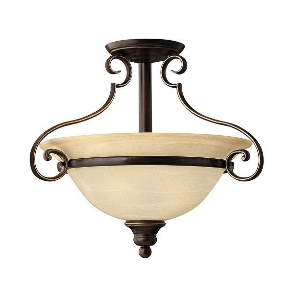 antyczna lampa sufitowa ze szklanym kloszem