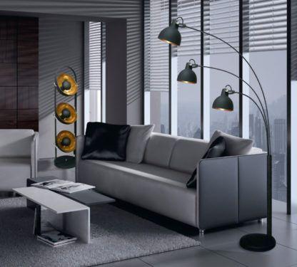 nowoczesna aranżacja oświetlenie podłogowe