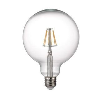 Żarówka edisona bezbarwna z ciekawym żarnikiem LED E27