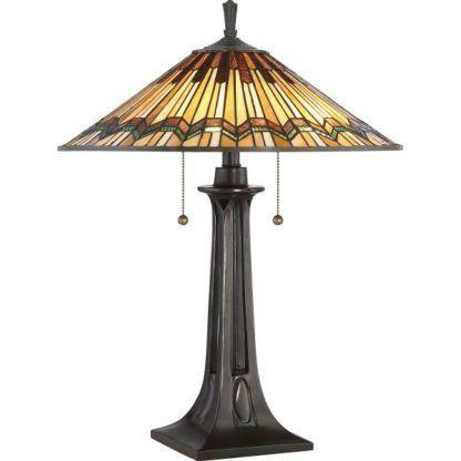 witrażowa lampa stołowa