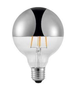 Nowoczesna żarówka edisona ze srebrną powłoką - LED E27