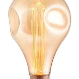 Złota piękna żarówka dekoracyjna edisona Retro - industrialna