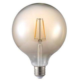 Żarówka dekoracyjna edisona - przyciemniana okragła bańka E27 1.7W LED