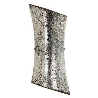 Połyskujący kinkiet Marconi - srebrny, szklana mozaika