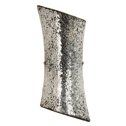 dekoracyjny kinkiet mozaika srebrny połysk