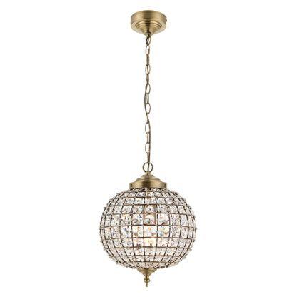 elegancka kula z kryształów w złotej oprawie